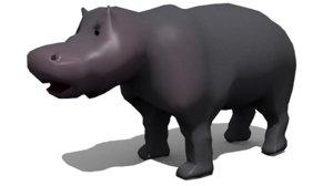 3ds hippo blender