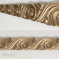 3D model of the decorative molding | Bg_010