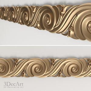 3d model decorative frieze interior
