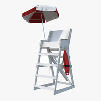 Lifeguard Chair with Umbrella