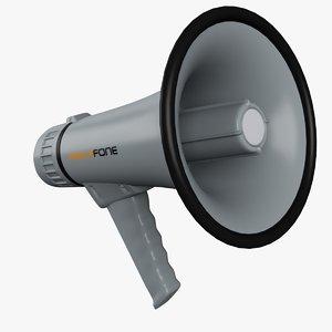 3ds max megaphone