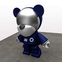 cute teddy bear 3d model