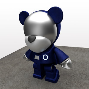 cute teddy bear 3d model
