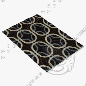 chandra rugs row-11105 3d model