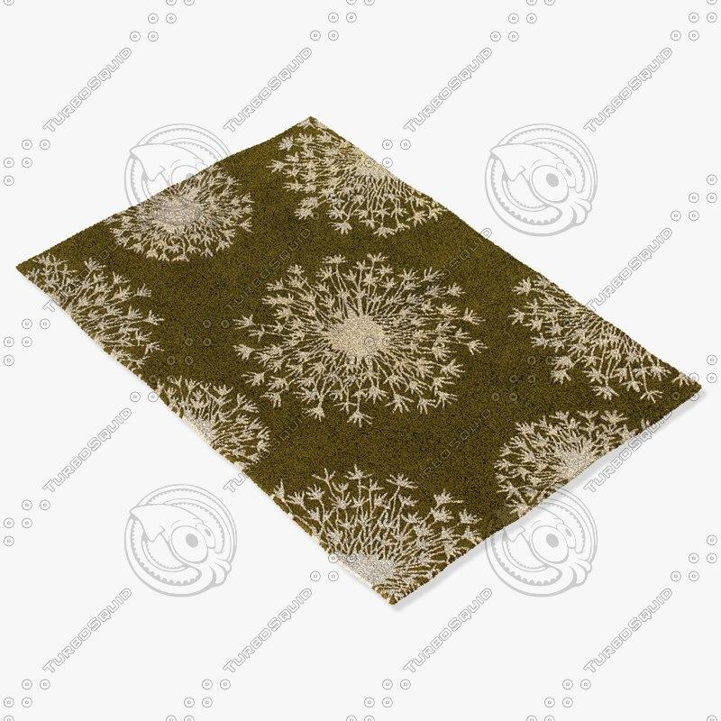 3d model chandra rugs t-sekc