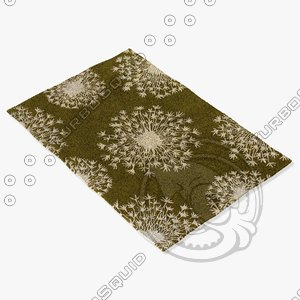 3d model chandra rugs t-sekc