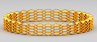 3d model of golden bracelet
