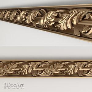 carved baguette 3d max
