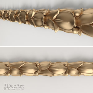 carved border 3d max