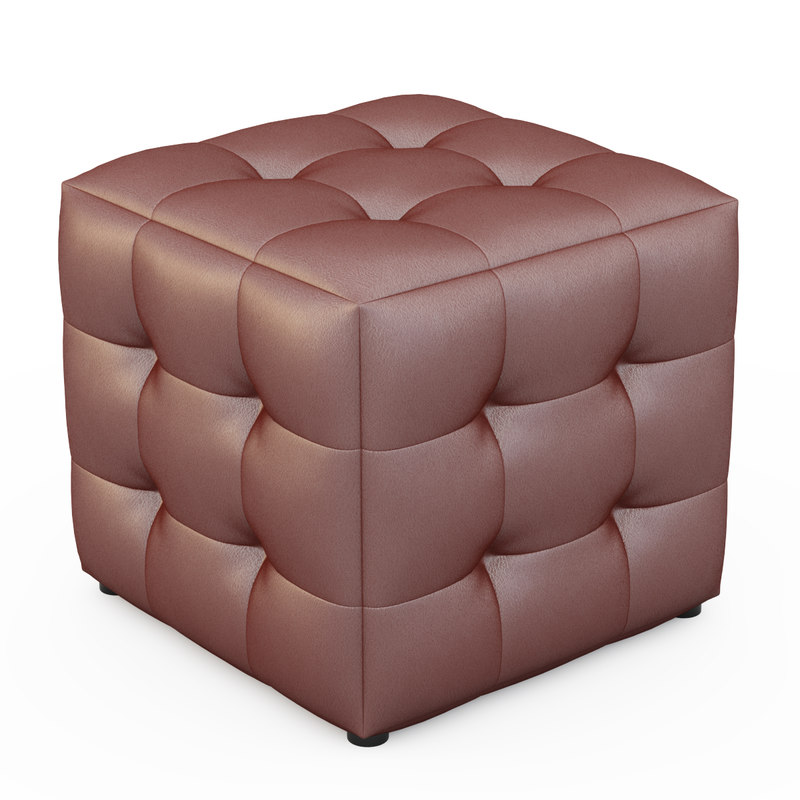 apollo bronze cube ottoman obj