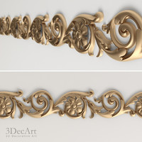 3d model interiors carved moldings