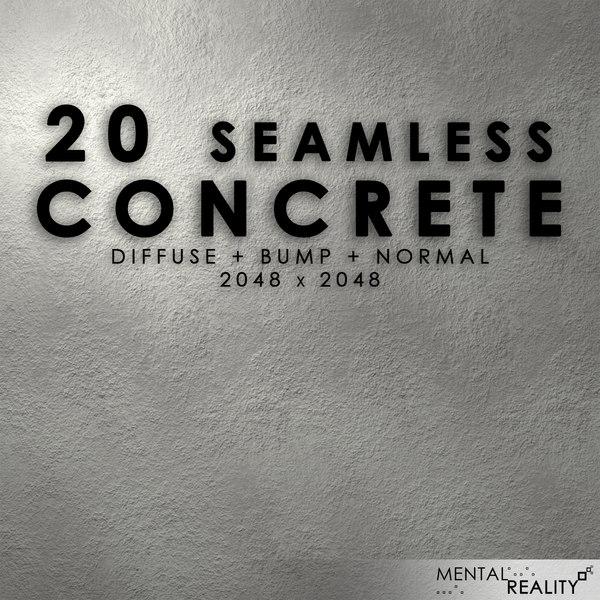 20 High Resolution Seamless Concrete Textures