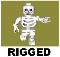 LEGO Skeleton (Rigged)