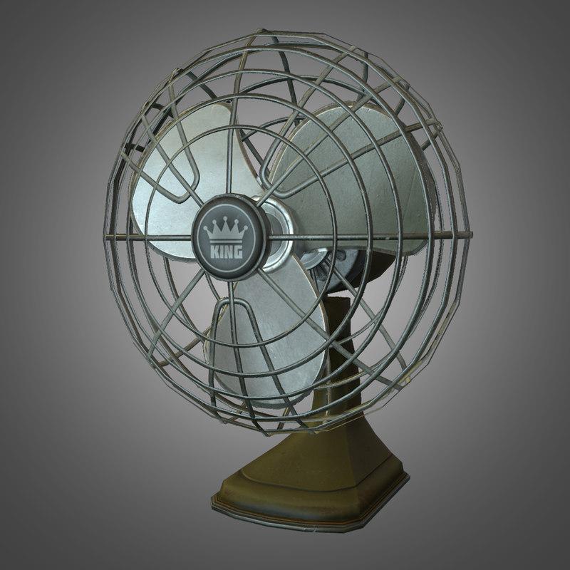 3d retro desk fan -