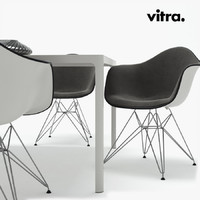 table plastic chair 3d max