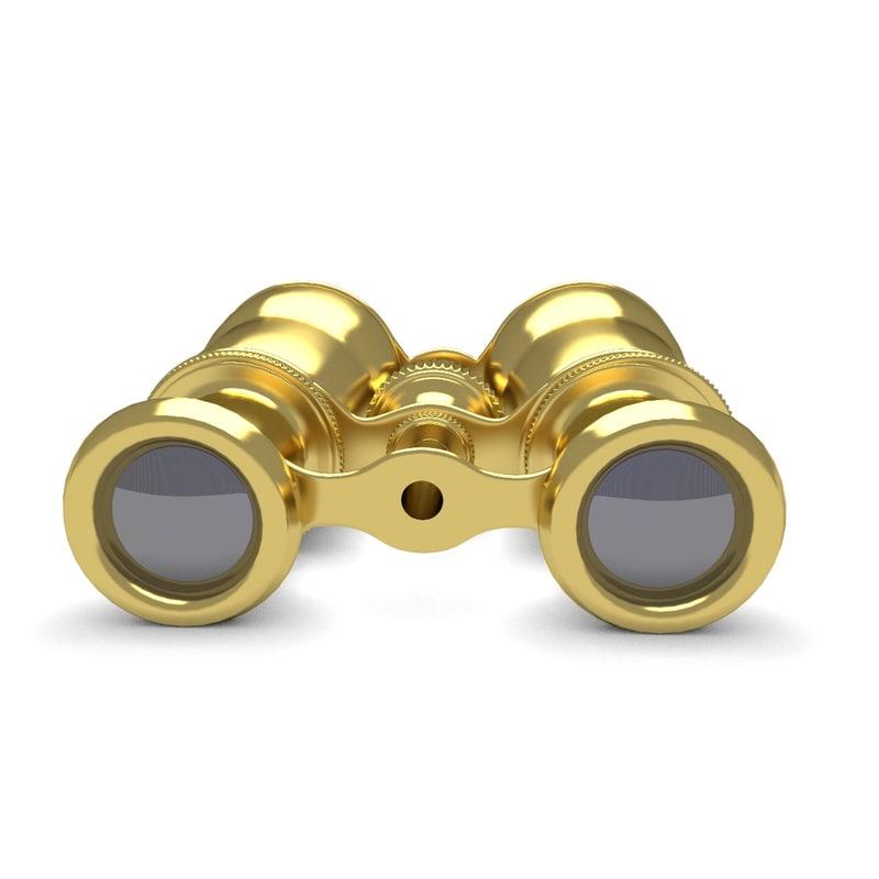 3d opera gold glasses model