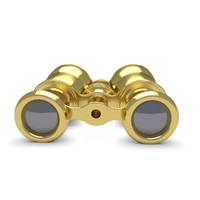 3d opera gold glasses model