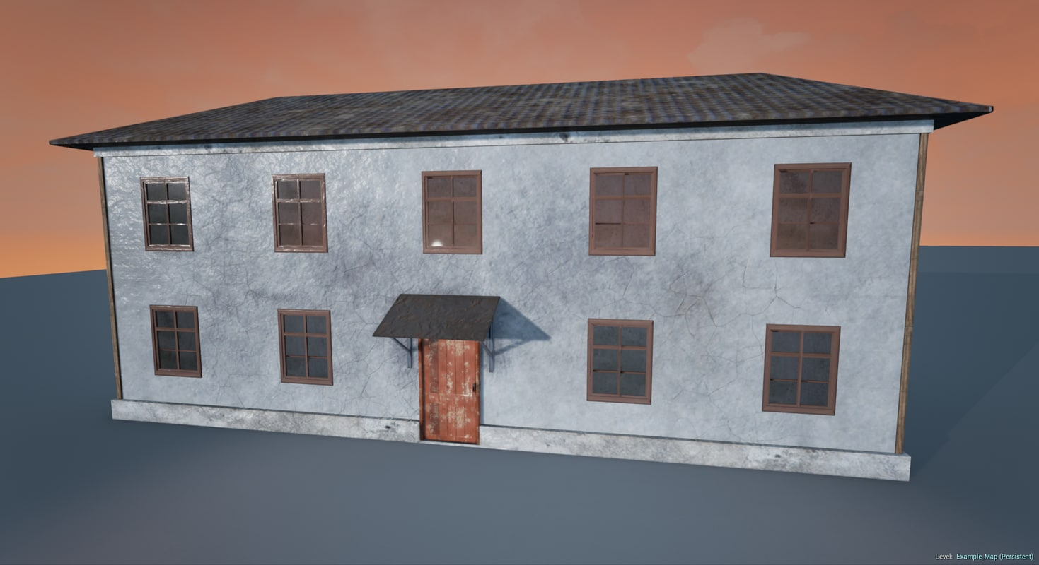 russian house barracks 3d model