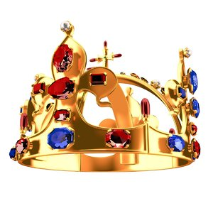 3d diamond crown model