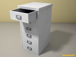 free cabinet 5 drawers 3d model
