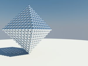 3d triangle grid
