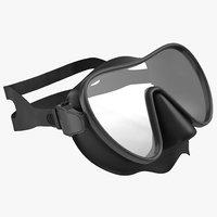 3d model scuba mask