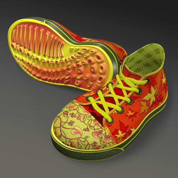 sneakers unique imaginary 3d obj