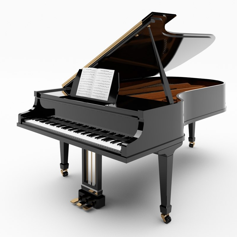 grand piano 3d 3ds