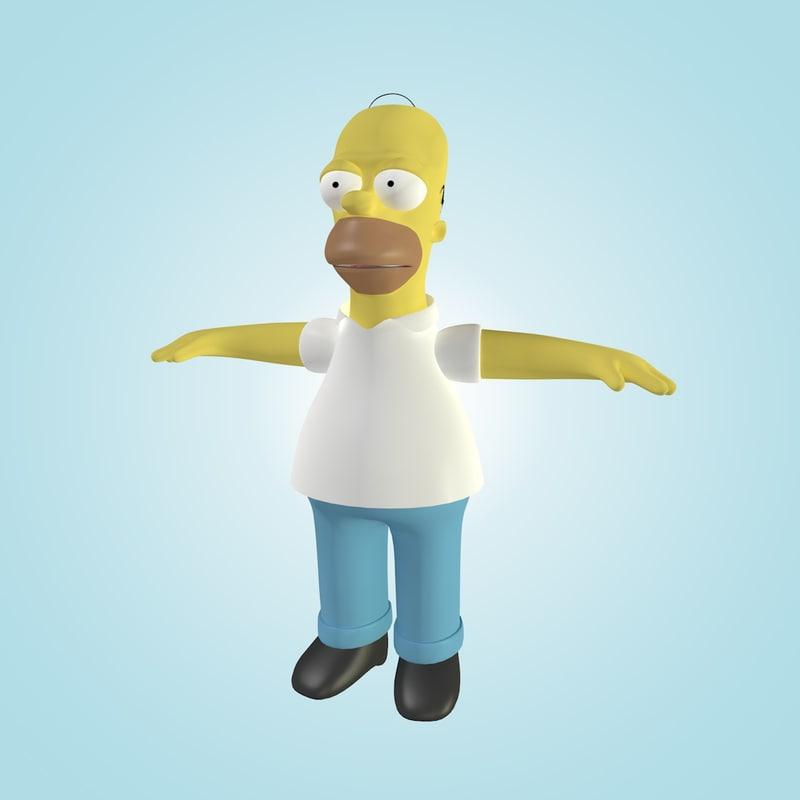 3d homer simpson cartoon animation