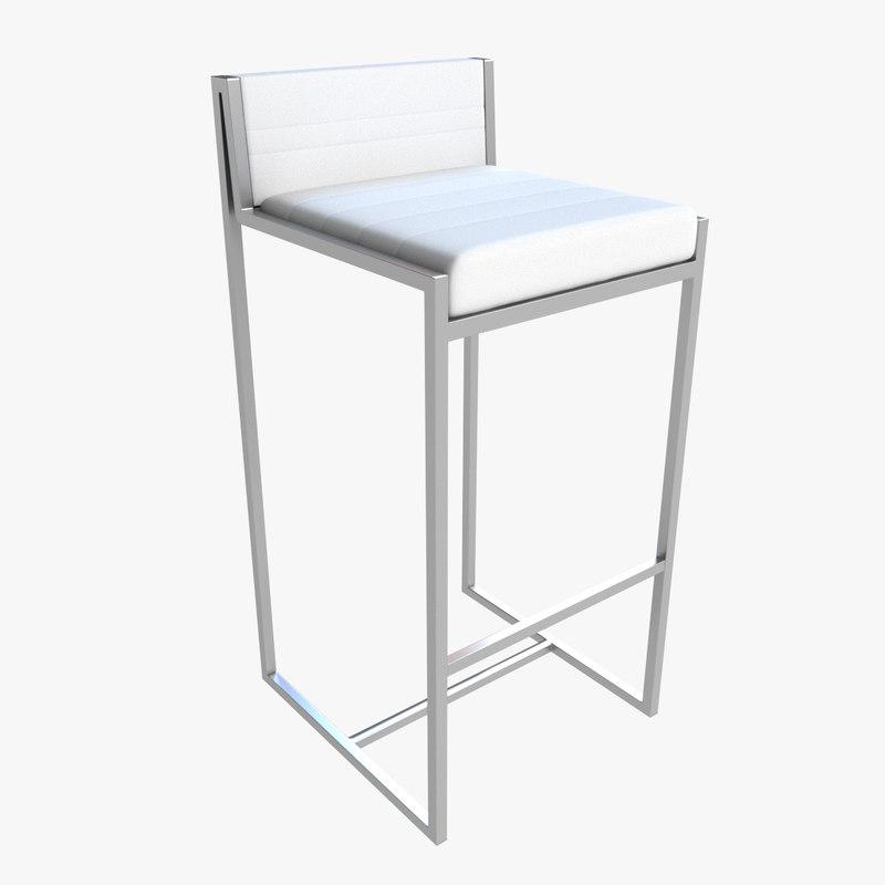 3d model of bar stool 09