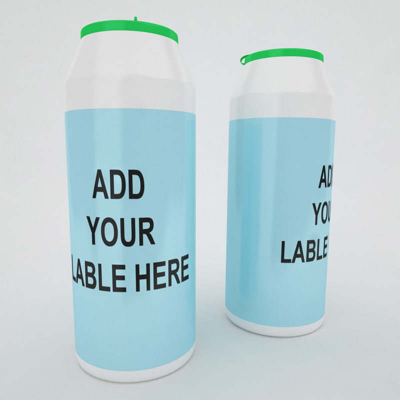 3d model container bottle