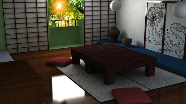 japanese room 3d max