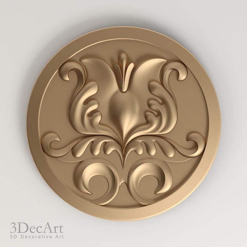 free max model decorative rosettes