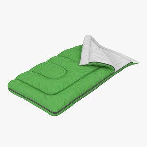 sleeping bag green 3d 3ds
