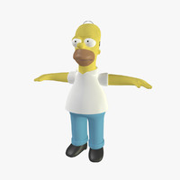 3d homer simpson cartoon animation