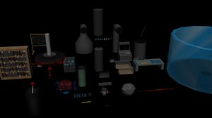 3d model of lab equipment package