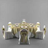 wedding table 3d models for download turbosquid