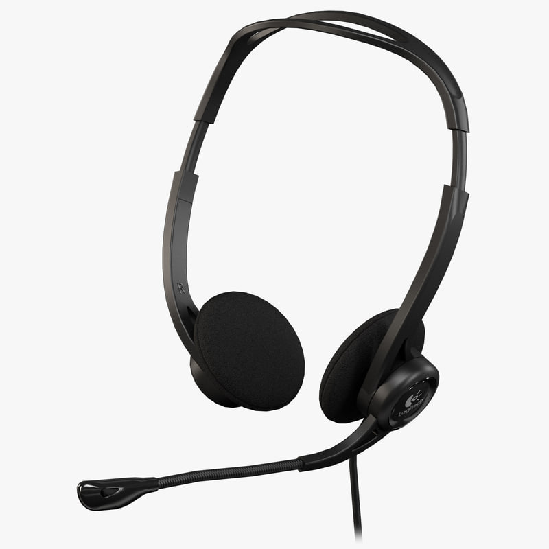 logitech pc headset 960 3d model