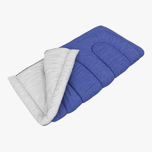 3d sleeping bag blue