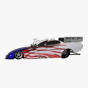 3d model of t funny car