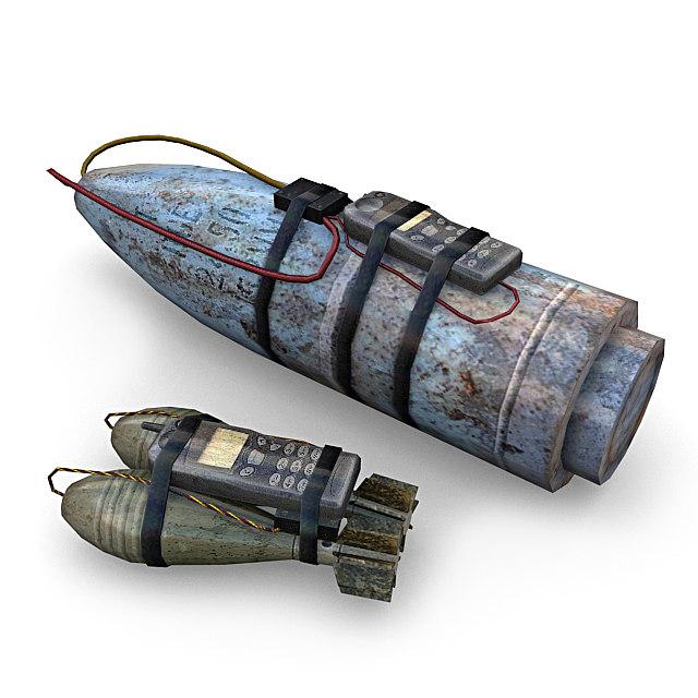 3d model improvised explosive devices
