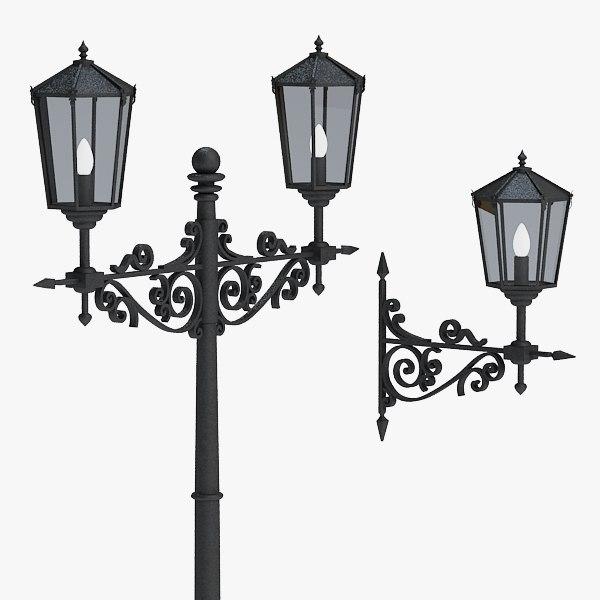 obj street lamp