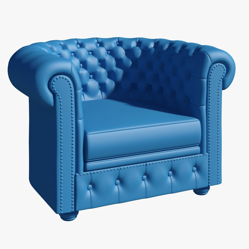 3ds max chesterfield armchair