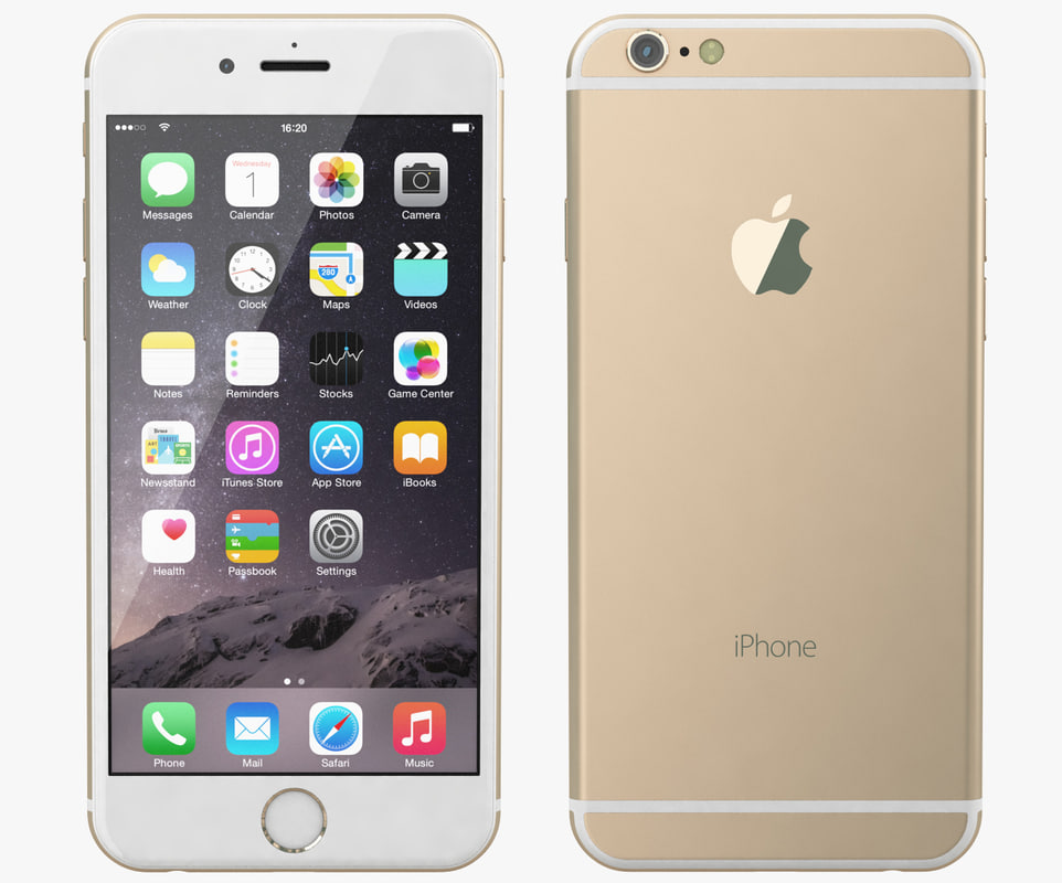 3d apple iphone 6 gold