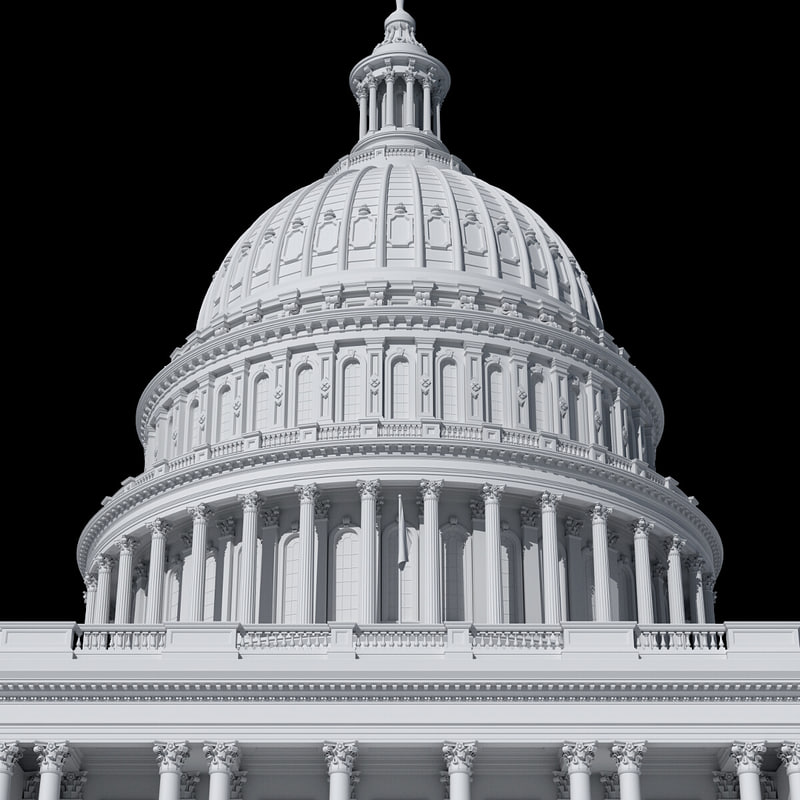 united states capitol building 3d max