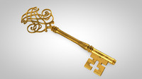 skeleton key 3d model