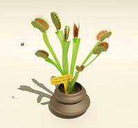 3d 3ds carnivorous plant dionaea muscipula