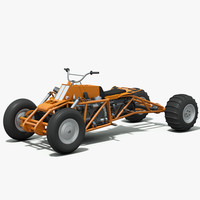 powered atv - cummins 3d model