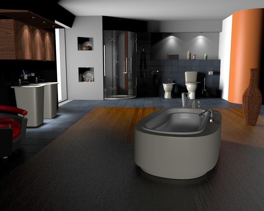 3d bathroom hd