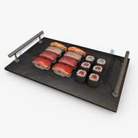sushi maki c4d